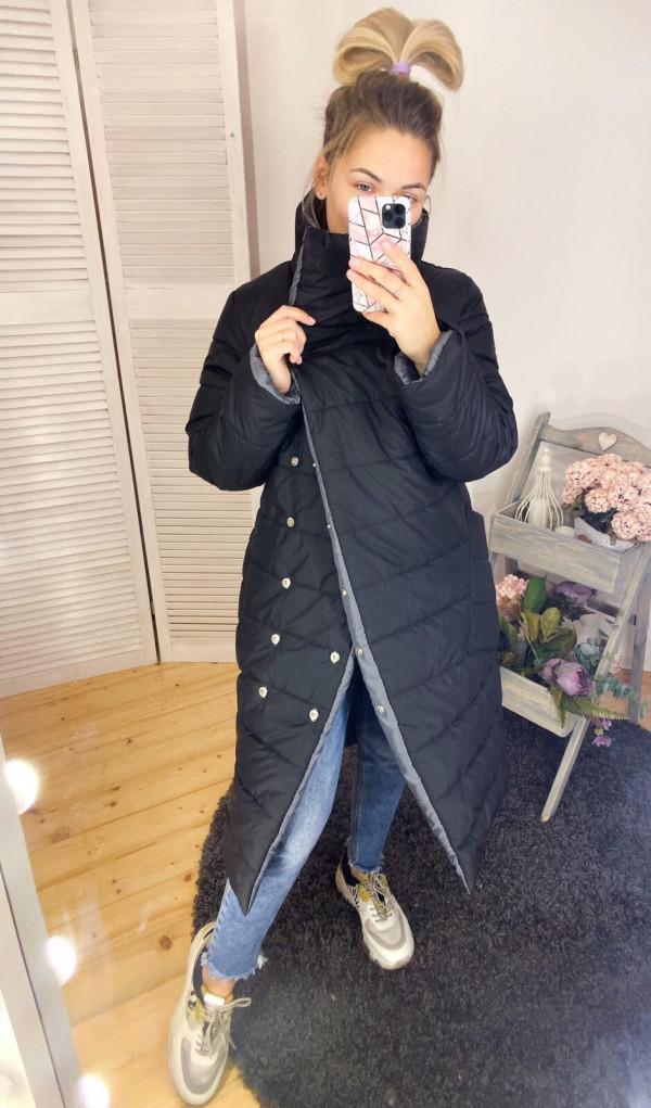 Совместные покупки на Куртка женская двусторонняя серая с черным