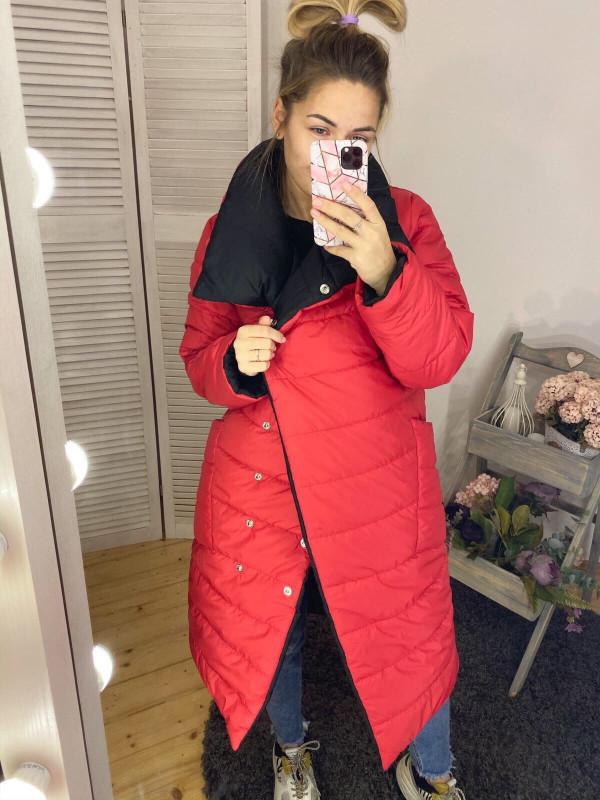 Совместные покупки на Куртка женская двусторонняя красная с черным