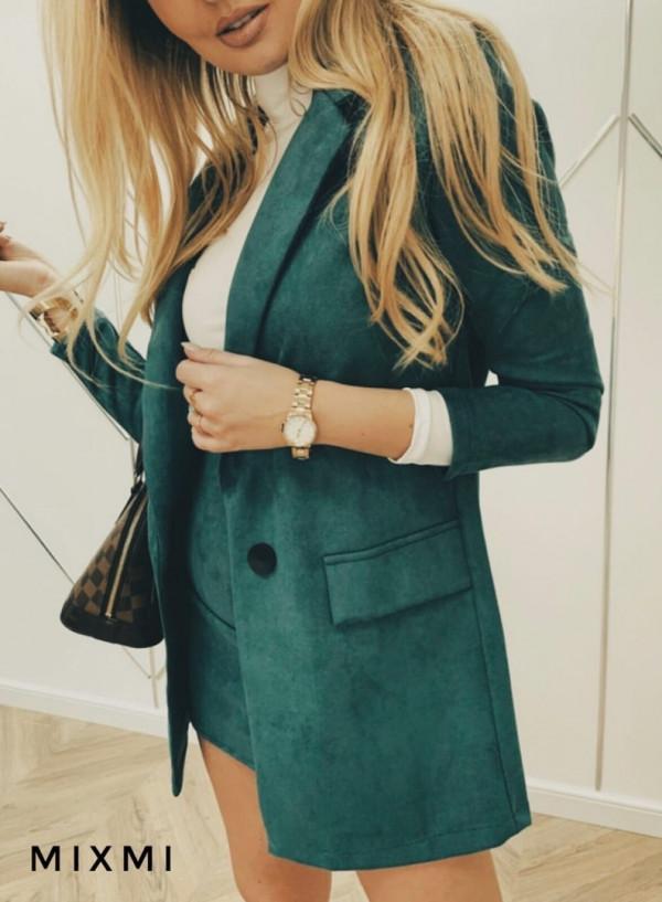 Совместные покупки на Костюм женский пиджак и юбка зеленый