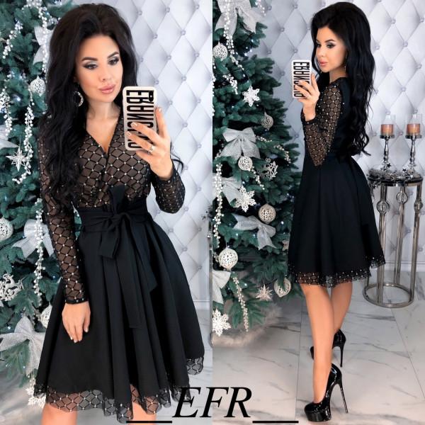Совместные покупки на Платье женское черное на бежевом