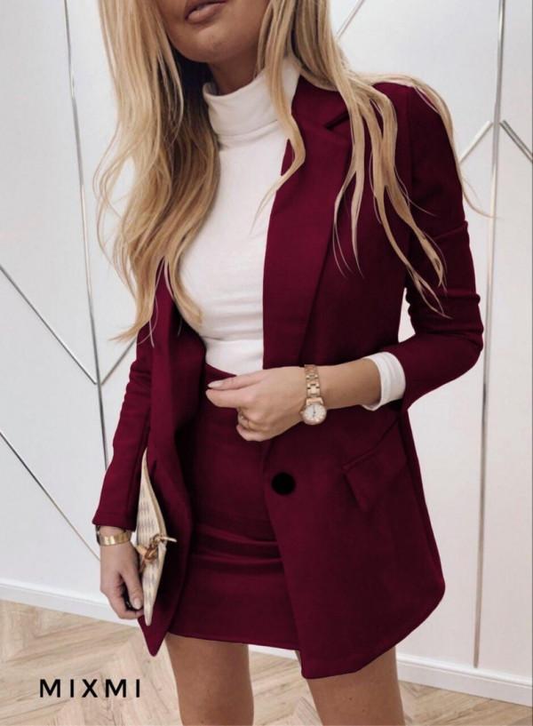 Совместные покупки на Костюм женский пиджак и юбка бордовый