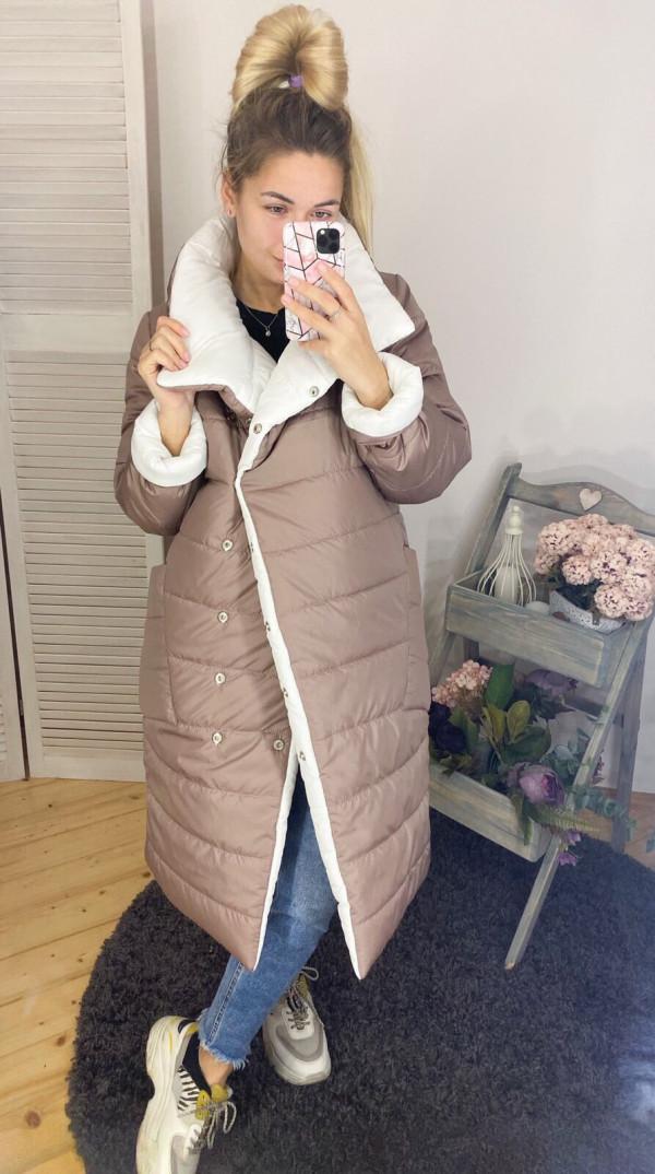 Совместные покупки на Куртка женская двусторонняя бежевая с белым